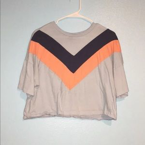 Rue 21 color block crop top